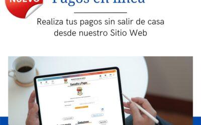 Pagos en línea, realiza tus pagos sin salir de casa, desde nuestro Sitio Web